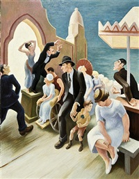 "century of progress [""boardwalk""] by thomas hart benton"